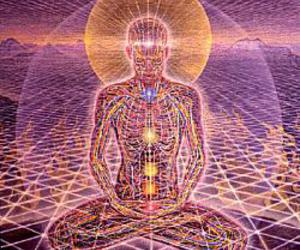 enlightenment, meditation, and trippy image