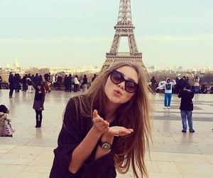 paris, girl, and kiss image