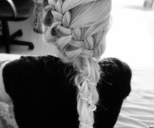 black and white, girl, and hair style image