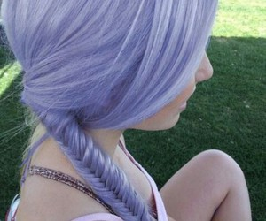 beauty, braid, and pastel image