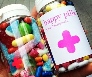 happy, candy, and pills image