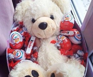 kinder, chocolate, and bear image