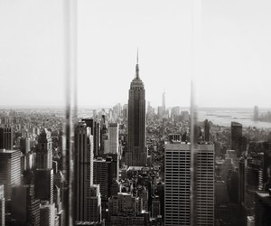 new york, black and white, and city image