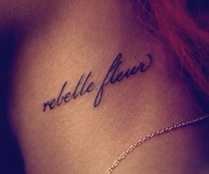 rihanna, tattoo, and rebel image