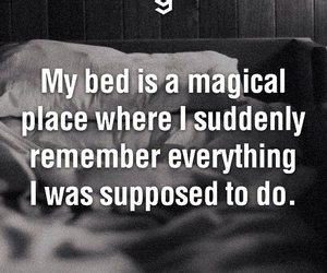 bed, quotes, and magical image