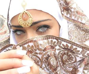 green eyes, hijab, and islam image