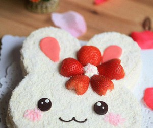 cute, cake, and bunny image