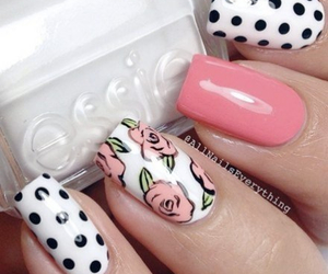 chic, spots, and nails image