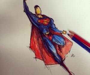 drawing and superman image