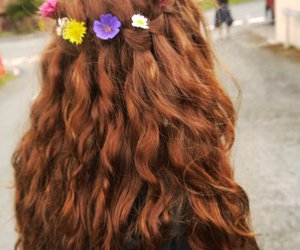europe, flowers, and hair image