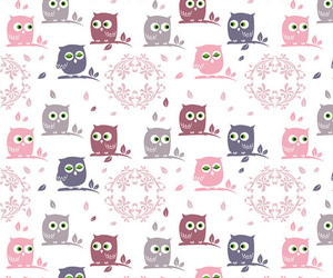 fabric, owl, and pattern image