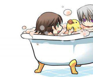anime, baby, and bath image