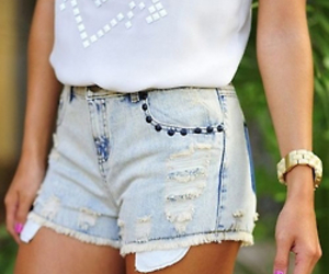 clothes, denim, and shorts image
