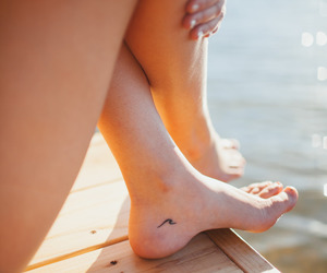 foot, pier, and summer image