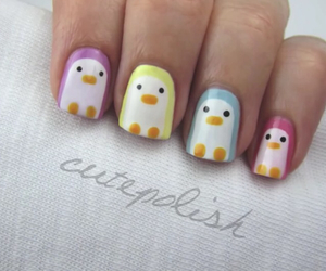 nails and penguin image