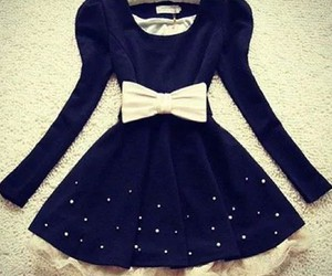 dress, black, and bow image