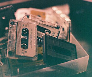 music, vintage, and cassette image