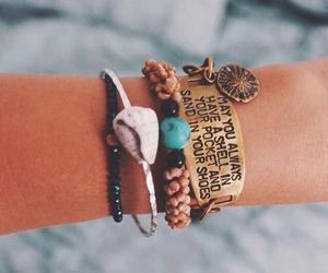 bracelet, beach, and summer image