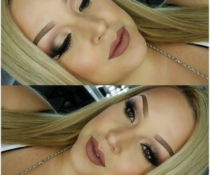 blond, girl, and makeup image