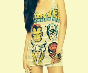 dress, girl, and Marvel image