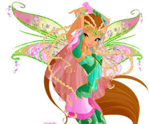 winx club and flora bloomix image