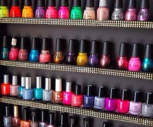 nail polish, nails, and colors image