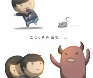 love, couple, and courage image