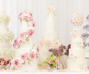 wedding, cakes, and food image