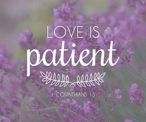love, bible, and patient image
