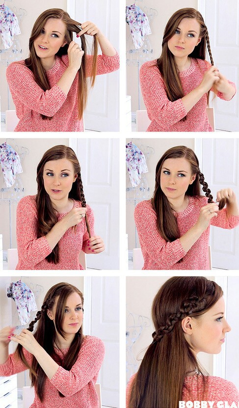 braid, brown, and curly image