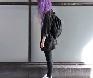 hair, grunge, and black image