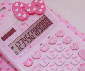 calculator, hello kitty, and kawaii image