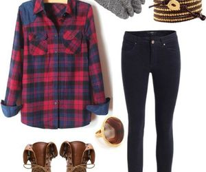 outfit, boots, and clothes image