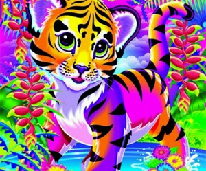 colors, lisa frank, and tiger image
