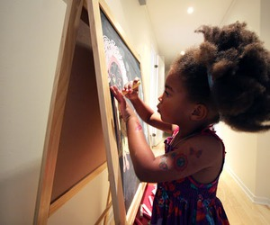Afro, paint, and child image
