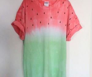 watermelon, fashion, and t-shirt image