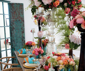 centrepiece, colorful, and flowers image