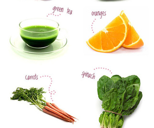 food, acne, and healthy image