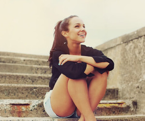 laugh, shorts, and smile image