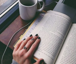 book, coffee, and nails image