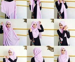 girl, hijab, and tutorial image
