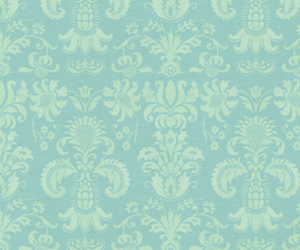 blue, pattern, and floral image