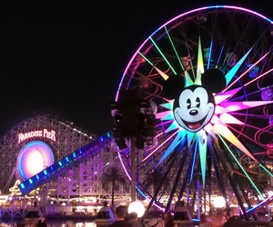 color, disney, and disneyland image