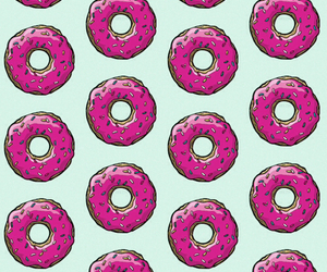 doughnuts, homer simpson, and the simpsons image