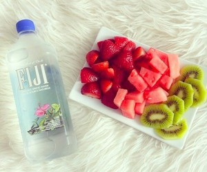 fruit, food, and water image