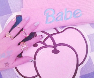 cherry, babe, and pastel image