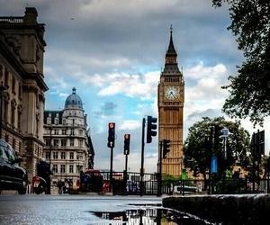 london, Big Ben, and rain image