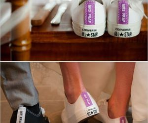 converse, shoes, and wedding image