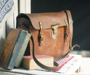 vintage, bag, and book image