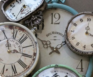 clock, pretty, and shabby chic image